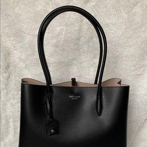 NTW: Kate Spade Eva Large Leather Tote in Black